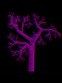 ranatree fractal tree in 3D screenshot on iPhone/iPad