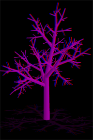 ranatree fractal tree screenshot on iPhone/iPad